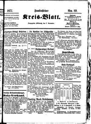 Frankensteiner Kreisblatt vom 07.11.1877