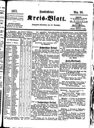 Frankensteiner Kreisblatt vom 10.11.1877