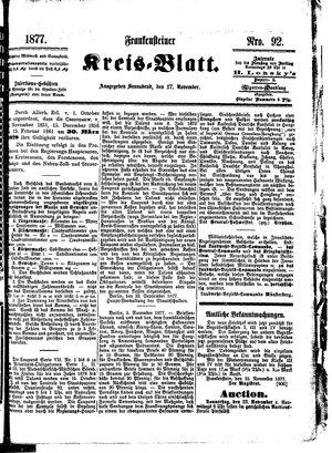 Frankensteiner Kreisblatt vom 17.11.1877