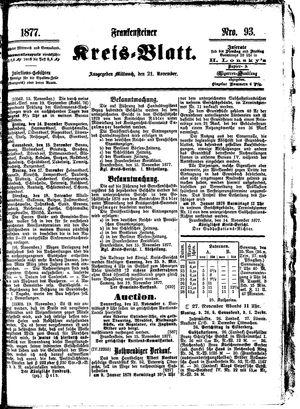 Frankensteiner Kreisblatt vom 21.11.1877