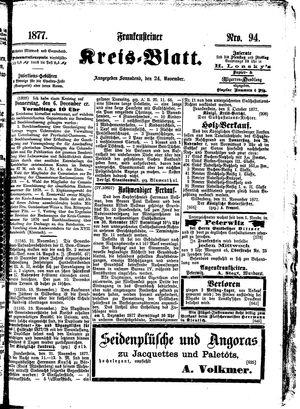 Frankensteiner Kreisblatt vom 24.11.1877