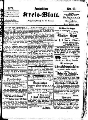 Frankensteiner Kreisblatt vom 28.11.1877