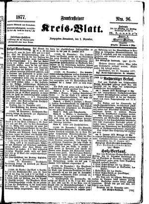 Frankensteiner Kreisblatt vom 01.12.1877