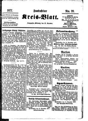 Frankensteiner Kreisblatt vom 12.12.1877