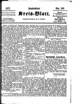 Frankensteiner Kreisblatt vom 15.12.1877