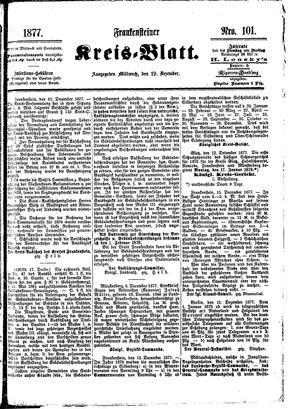 Frankensteiner Kreisblatt vom 19.12.1877