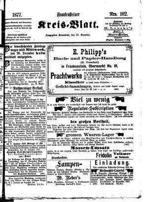 Frankensteiner Kreisblatt vom 22.12.1877