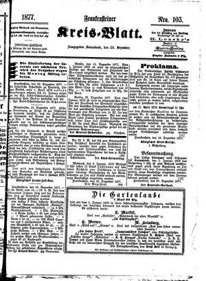 Frankensteiner Kreisblatt vom 29.12.1877
