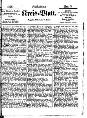 Frankensteiner Kreisblatt vom 09.01.1878