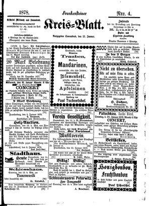Frankensteiner Kreisblatt vom 12.01.1878