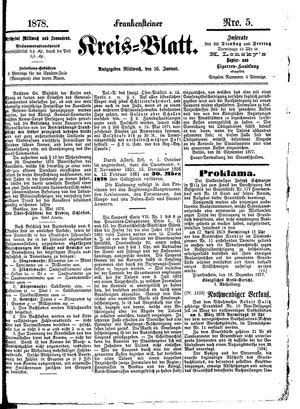 Frankensteiner Kreisblatt vom 16.01.1878