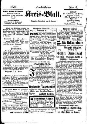 Frankensteiner Kreisblatt vom 19.01.1878