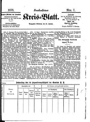 Frankensteiner Kreisblatt vom 23.01.1878