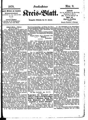 Frankensteiner Kreisblatt vom 30.01.1878