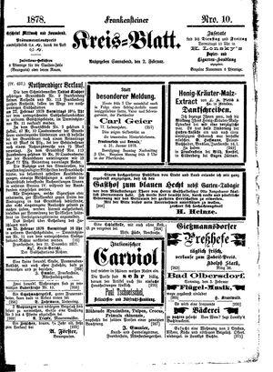 Frankensteiner Kreisblatt vom 02.02.1878