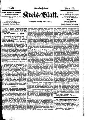 Frankensteiner Kreisblatt vom 06.03.1878