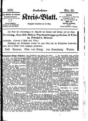 Frankensteiner Kreisblatt vom 16.03.1878