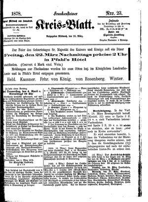 Frankensteiner Kreisblatt vom 20.03.1878