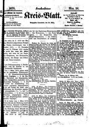 Frankensteiner Kreisblatt vom 30.03.1878
