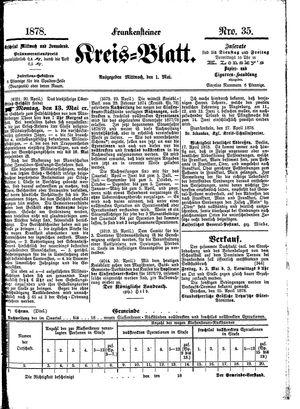 Frankensteiner Kreisblatt vom 01.05.1878