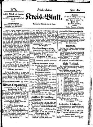 Frankensteiner Kreisblatt vom 05.06.1878