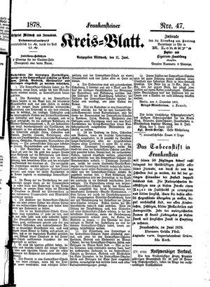 Frankensteiner Kreisblatt vom 11.06.1878