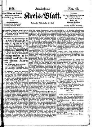 Frankensteiner Kreisblatt vom 19.06.1878