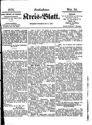 Frankensteiner Kreisblatt vom 06.07.1878