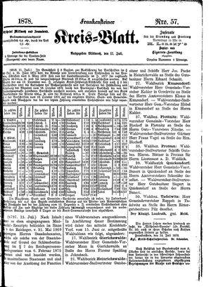 Frankensteiner Kreisblatt vom 17.07.1878