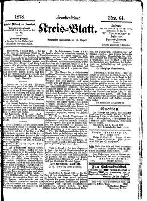 Frankensteiner Kreisblatt vom 10.08.1878