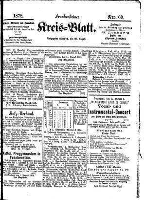 Frankensteiner Kreisblatt vom 28.08.1878