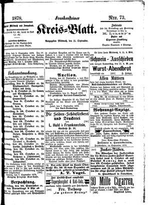 Frankensteiner Kreisblatt vom 11.09.1878
