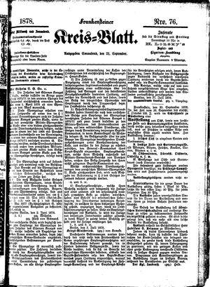 Frankensteiner Kreisblatt vom 21.09.1878