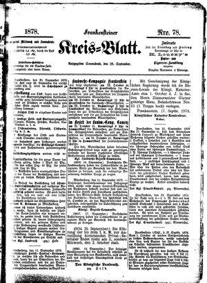 Frankensteiner Kreisblatt vom 28.09.1878