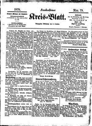 Frankensteiner Kreisblatt vom 02.10.1878