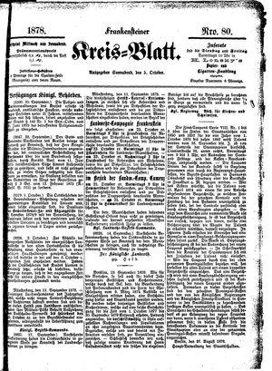 Frankensteiner Kreisblatt vom 05.10.1878