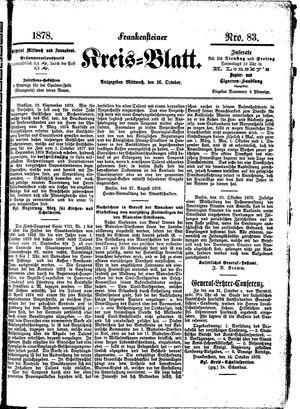 Frankensteiner Kreisblatt vom 16.10.1878