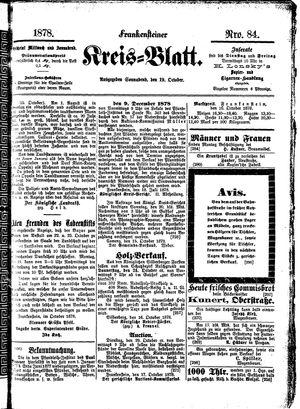 Frankensteiner Kreisblatt vom 19.10.1878