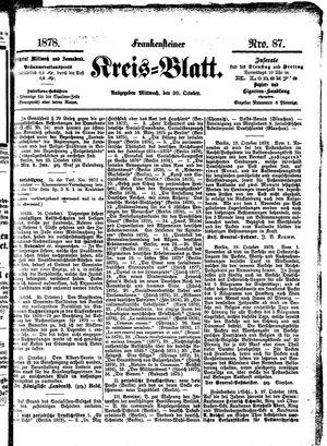Frankensteiner Kreisblatt vom 30.10.1878