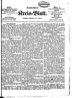 Frankensteiner Kreisblatt vom 03.01.1883