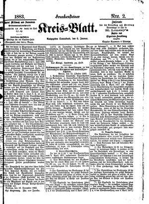 Frankensteiner Kreisblatt vom 06.01.1883