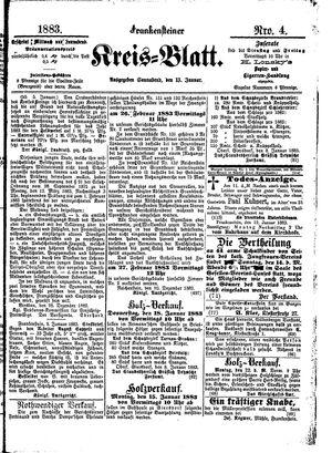 Frankensteiner Kreisblatt vom 13.01.1883