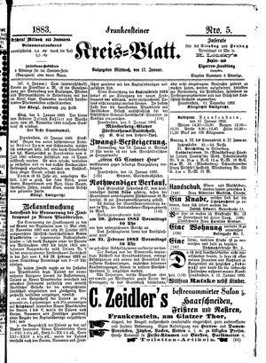 Frankensteiner Kreisblatt vom 17.01.1883