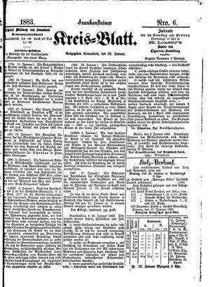 Frankensteiner Kreisblatt vom 20.01.1883