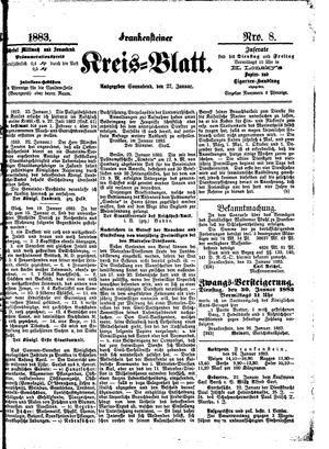 Frankensteiner Kreisblatt vom 27.01.1883