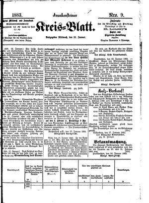 Frankensteiner Kreisblatt vom 31.01.1883