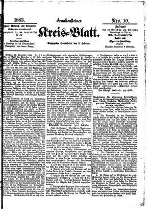 Frankensteiner Kreisblatt vom 03.02.1883