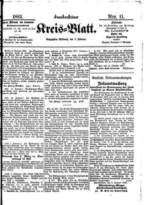 Frankensteiner Kreisblatt vom 07.02.1883
