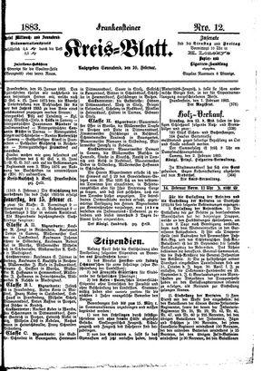 Frankensteiner Kreisblatt vom 10.02.1883