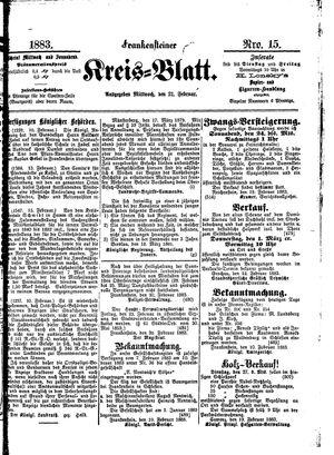 Frankensteiner Kreisblatt vom 21.02.1883